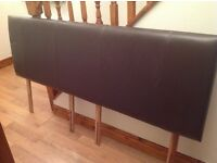 Super king faux leather headboard