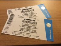2 Robbie Williams seated Concert Tickets