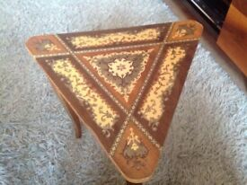 Inlaid musical table