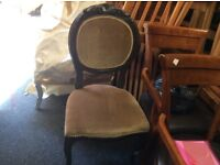 Reduced 6 vintage French style chairs