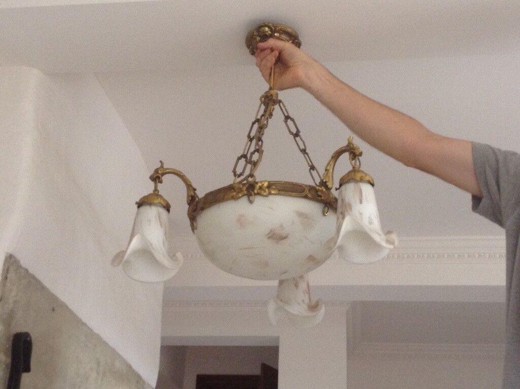 Brass ceiling light - heavy duty