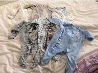 Baby boy 0-3 months sleep suits, clothes