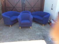 2 x sofas and 2 x tub chairs