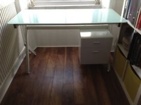 Frost glass top desk