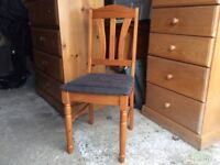 Pine Table & Four Chairs