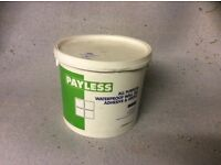 Waterproof wall tile adhesive and grout