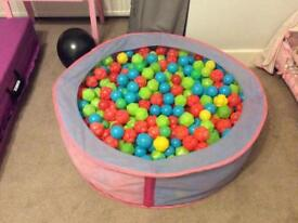 Ball pit with lots of balls