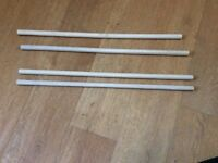 45 lengths of half inch x 24 inches balsa wood dowelling.unused.