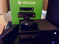 Xbox One 500GB Console Black with Kinect and wireless controller. Boxed.