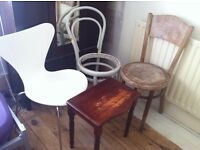 Furniture Project 3 Bentwood Chairs Lamp Stand Table for Makeover