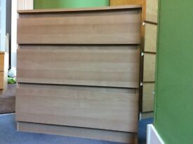 3 drawer chest of drawers.