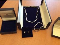 Beaverbrooks matching necklace bracelet and ear rings