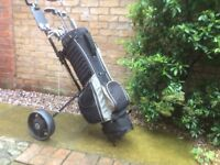 Golf clubs complete with Bag & Trolley, would suit begginner