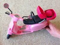 Barbie Scooter Toy - with Helmet. Immaculate!