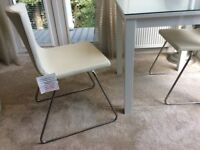 Gloss White Dining Table Plus Two Chairs