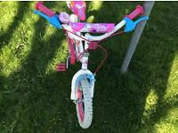 Peddle pets bike , stabilisers included.