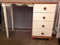 Pine dressing table .upcycled and waxed