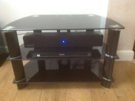 Black Glass TV/ DVD Unit