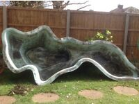 Garden pond for sale 11ft x 5ft