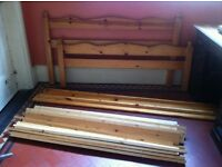 Wooden Double Bed in Need of TLC/ Can Deliver