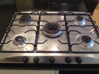 Neff gas 5 ring stainless steel gas hob £40
