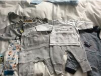Big bundle of baby boy clothes 0-3 months
