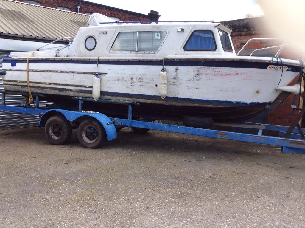 Project BoatTrailerin Denton, ManchesterGumtree - Project boat & trailer. Inboard petrol engine with Z Drive. Approximately 21 feet on twin wheeled trailer. This is a complete boat, however, does require refurb. For Sale at £800 for boat and trailer. No offers
