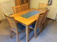 Dining table a 6 chairs for sale