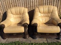 2 Cream Armchairs - Free to collector