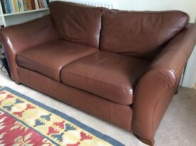 Marks and Spencer dark brown leather sofa. Abbey range