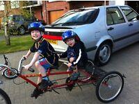 Pashley double tag a long 'U plus 2' 'U + 2' bike trailer.