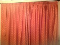3 pairs of fully lined curtains