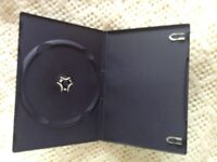 100 Single DVD Case Cases 7mm Spine Slimline Black Clear Front Cover Sleeve