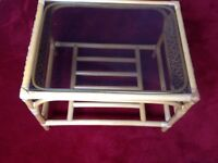 BAMBOO STYLE GLASS COFFEE TABLE