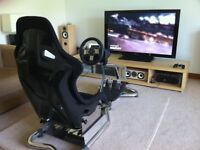VisionRacer VR3 Driving Simulator / Driving Game Rig & Logitech G27 Racing Wheel & Pedals