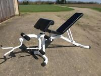 Utility Bench with Preacher/Leg Extension (Delivery Available)