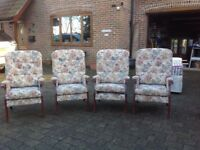 Armchairs - cottage style x 4 @ £25 each