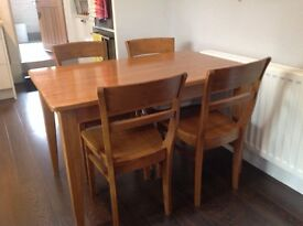 Wooden dining table &4 chairs
