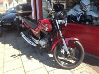 YAMAHA YBR 125 FULL 12 MONTHS MOT 3 MONTHS WARRANTY SERVICE HISTORY. DELIVERY CAN BE ARRANGED