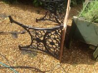 Wrought iron table legs