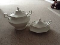 Large soup tureen and dish with lid