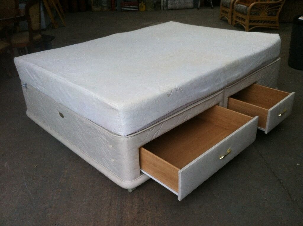Sealy 4 Drawer King Size Bed And Memory Foam Mattress Can Deliver To West Midlands