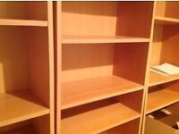Beech tall narrow shelf unit