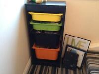 Ikea trofast storage unit plus boxes