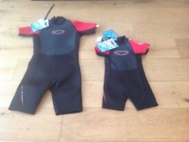 Wetsuits TWF age 4 & age 14 both brand new