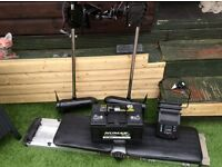Shakespeare electric outboard x2 plus brand new leisure battery and boat seat plus charger£260