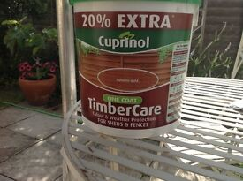 Cuprinol fence/shed paint.autumn gold.6 litres. Unused