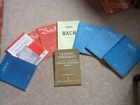 Choral books. Large selecton including Handel, Bach, Mozart and Hayden. Good condition.