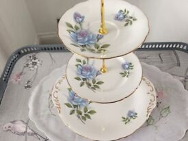 Royal Standard Bone China 3 Tier Cake Stand. Fascination.