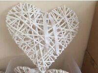 Large White wedding hearts